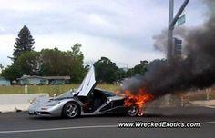 2 million dollar luxury McLaren went up in smoke