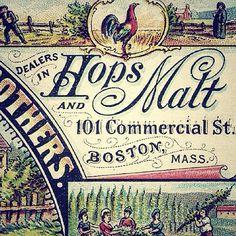Vintage Hops Label