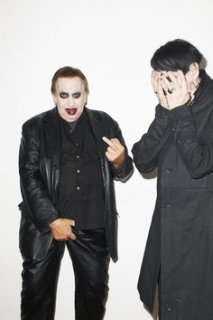 Marilyn Manson's Dad surprised him at his recent photo shoot with Terry Richardson. Proof that its a Father's duty to embarrass your children as much as humanly possible. - Imgur