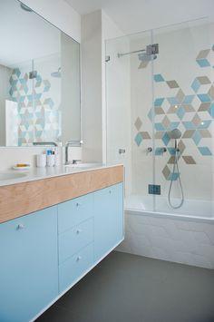 Schönes #Badezimmer mit gelungenem #Farbmix // B-Residence-HoM-Architecture-7