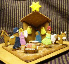 Betlehemin seimi. Tietäjät tuovat lahjoja lapselle. Tyttäreni leikkasi mallit ja koristeli valmiit piparit. - by Terhi -- Piparkakku, Joulu, Gingerbread, Christmas
