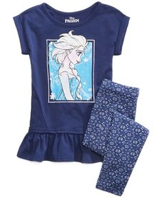 Disney's Frozen Elsa 2-Pc. Tunic & Leggings Set, Toddler Girls (2T-5T)