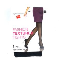 Hanes style essentials women fashion textured tights size b pair  non-control top