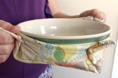 Microwave Bowl Potholder | AllFreeSewing.com
