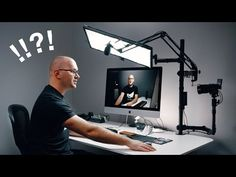 Head to our websites if you would like to see photography educational videos, tricks and tips. Studio Tv, Home Studio Setup, Home Office Setup, Video Studio, Studio Room, Desk Setup, Room Setup, Studio Ideas, Photography Studio Setup