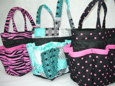 Hey, I found this really awesome Etsy listing at http://www.etsy.com/listing/96728874/pink-polka-dot-in-black-small-bingo-bag