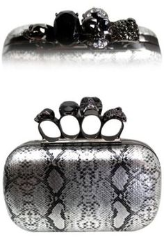 Amazon.com: METALLIC Designer & Celebrity Style Silver Snakeskin BLING SPARKLE Clutch w/ Crystal Knuckle BLING Hard Case Clutch Evening bag w/Crystal & Embellished Knuckle Clasp closure by Jersey Bling: Clothing
