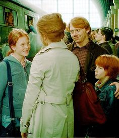 Hermione and Ron Weasley family.