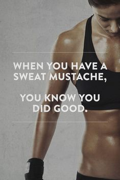 When you have a sweat mustache, you know you did good. | http://www.simplebeautifullife.net