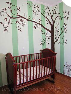 Ζωγραφική στον τοίχο βρεφικού δωματίου