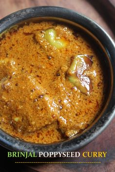 YUMMY TUMMY: Vankaya Gasagasala Kura Recipe / Brinjal Poppy Seed Curry Recipe / Andhra Brinjal Curry Recipe