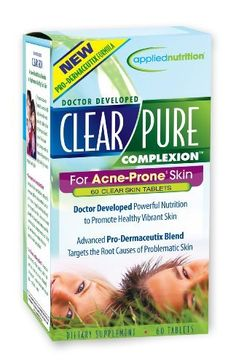 Applied Nutrition Clear-pure Complexion, 60 Count by Applied Nutrition. $15.00. Optimizes skin function and appearance. Nourishes and soothes the skin. Promotes a healthy complexion. Encourages skin cell renewal. Clear and healthy skin does not happen overnight but it does happen allow time for your body to respond to this formula initial results may vary from 4 to 12 weeks depending on the individual. A clear complexion starts on the inside. So why do most skin-ca...