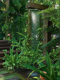 9 Sharing Tips AND Tricks: Backyard Garden Vegetable Greenhouses backyard garden patio arbors.Patio Garden Ideas Backyards backyard garden shed flower beds. Outdoor Baths, Outdoor Bathrooms, Outdoor Rooms, Outdoor Gardens, Outdoor Living, Outdoor Plants, Backyard Plants, Dream Garden, Home And Garden