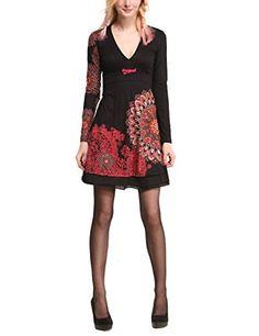 Desigual Damen Kleid VEST_MARCHELLA, Knielang, Gr. 38 (Herstellergröße: M), Schwarz (NEGRO 2000)
