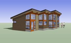 FabCab 1337Model - one story design, 3 bedrooms, 2 baths. Ecofriendly and not that much to buy!