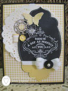 Stampin' Up! Birthday  by Jenny E at Giddy Stamper: Chalkboard Birthday