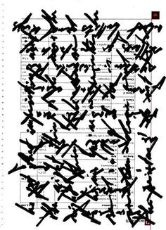 "Marco Giovenale, asemic text. I like this idea of ""wordless, post-lingual poetry"""