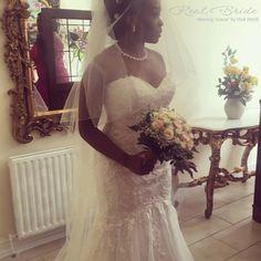 5145def232ec Stunning real bride Simisola looks amazing in 'Gracie' by Viva Bride <3