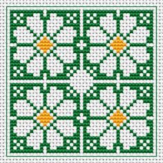 Daisy free cross stitch pattern