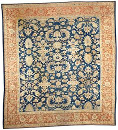 Ziegler Mahal carpet  Central Persia  late 19th century  size approximately 10ft. 8in. x 11ft. 8in.