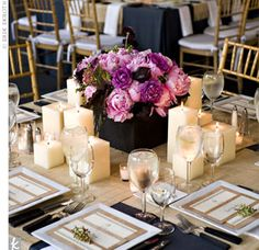 I love the candles surrounding the centerpiece! :-)