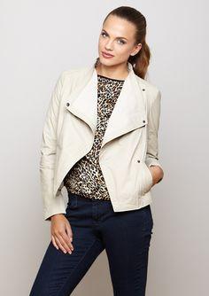 BAGATELLE  Drape Front Knit Inset Jacket  $129.99