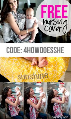 FREE Nursing Covers!! Beautiful patterns and a great option to customize with a name or word! Perfect baby gift! #babygift More information at HowDoesShe.com