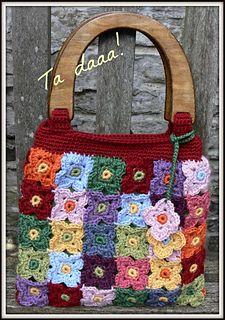 bag made of crochet flowers
