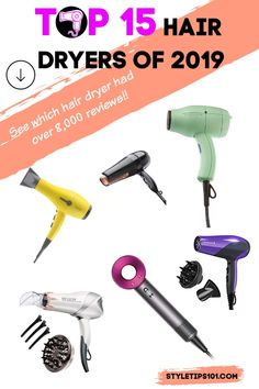 Trying hard to get that salon perfect blow out? The secret lies in a good quality hair dryer! You can purchase the best hair serums, creams, and styling tools, but if your hair dryer is sub-par… Hair Dryer Brush, Best Hair Dryer, Frizzy Hair, Dry Hair, Revlon, Fastest Hair Dryer, Small Hair Dryer, Best Hair Serum, World Hair