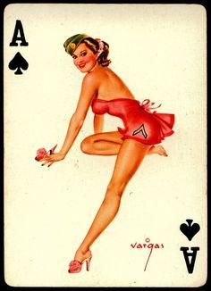 Vargas Pin Ups Ace of Spades by cigcardpix, via Flickr