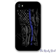 Ripped and Tattered Thin blue line American Flag by TheNerdyBird2