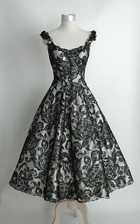 1950s Vintage Lace Cocktail Dress