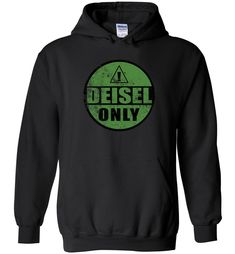 Diesel Only Truck Distressed Sticker Sweatshirt Hoodie