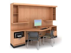 opus - Technology routing behind the cabinets allows for easy wiring and access, keeping cords safely hidden.