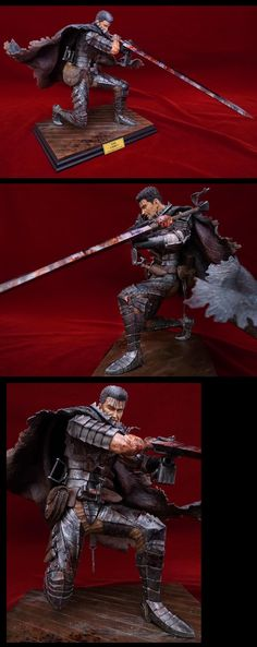 Wielding a giant sword and covered in blood, this 1/6th scale figure of Guts from Berserk shows him performing his Spinning Cannon Slice move. Capturing Guts' sheer power and movement, the figure includes a Dragon Slayer with a 26.5 centimeter blade and a special stand capturing the recoil from the attack. All 44 of the figures are hand painted and have their own unique characteristics, extraordin...
