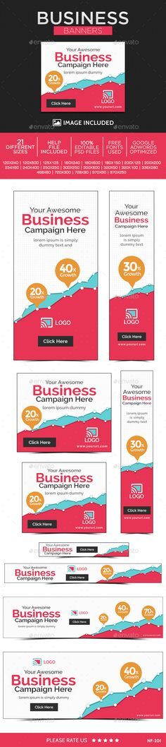 Business Web Banners Template PSD | Buy and Download: http://graphicriver.net/item/business-banners/9952314?ref=ksioks