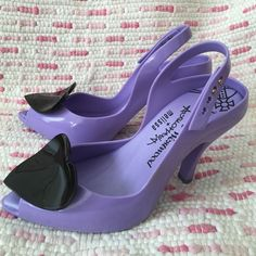 Vivienne Westwood Anglomania + Melissa Heart Pumps New, never worn. Lady Dragon Heart jelly Pumps, heels Vivienne Westwood Shoes Heels