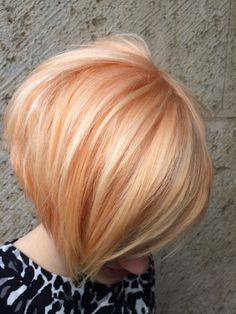 Apricot blond hair color
