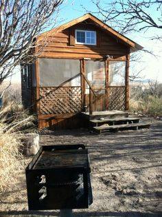 Rent one of six dinky cabins for an off-the-grid experience that doesn't involve giving up amenities.