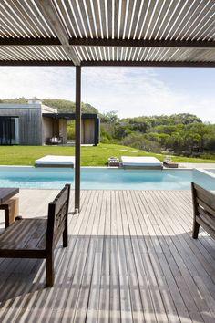 pool area | La Boyita in Punta del Este, Uruguay by Estudio Martin Gomez Arquitectos