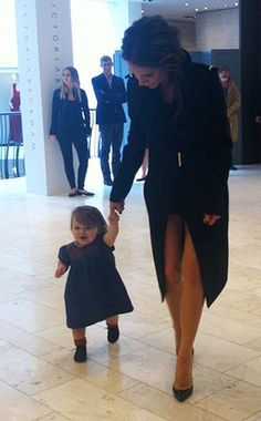 How adorable are Harper and Victoria Beckham?