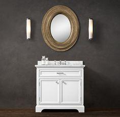 "Kent Single Vanity Sink RH - $2770.00 base and top in ceasar stone Vanity Sink with Top: 36""W x 24""D x 34""H Vanity Base: 36""W x 24""D x 32½""H"