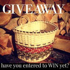 Are YOU entered YET? #giveaway #jillchoatebasketry Enter to WIN here: http://www.jchoatebasketry.com/blogs/news/falling-into-weaving-giveaway