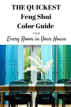 #fengshui Easily find the best room colors for good feng shui