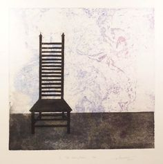 """Two plate etching with aquatint - Somerset - 18"""" x 17.5"""" - $350"""