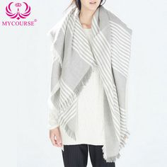 Find More Scarves Information about MYCOURSE Women Fashion Stripe Tassels Blanket Scarf Wrap Shawl Cozy Faux Cashmere Casual Striped Pattern Big Square Scarf  ,High Quality scarf designs for women,China square rhinestone Suppliers, Cheap scarves stoles from MYCOURSE on Aliexpress.com