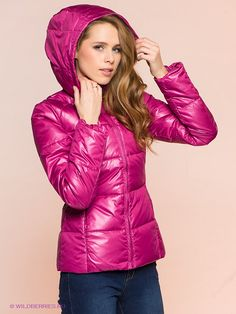 Куртка INCITY. Цвет фуксия. Вид 4. Down Puffer Coat, Puffer Coats, Nylons, Puffer Jackets, Winter Jackets, Female, Lady, Clothes, Woman