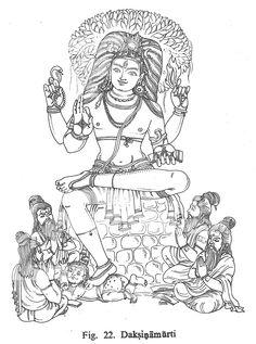Daksinamurti Indian Gods, Indian Art, Om Namah Shivaya, Hindu Rituals, Shiva Statue, Lord Shiva Painting, Tanjore Painting, Outline Drawings, Hindu Deities