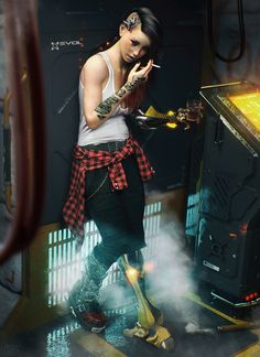 Badass Cyberpunk Girl Concept Art & Female Character Designs Cyber Punk Girl By Jacek RadwanCyber Punk Girl By Jacek Radwan Cyberpunk 2077, Cyberpunk Girl, Cyberpunk Fashion, Cyberpunk Tattoo, Cyberpunk Anime, Female Character Design, Character Concept, Character Art, Concept Art