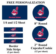 Cleveland Indians Edible Image Frosting Sheet #23 (different sizes)